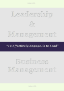 Leadership & Management Page